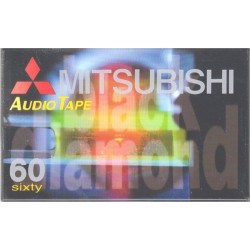Mitsubishi Black Diamond 60 Minute Blank Cassette Tape