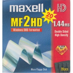 Maxell 20 Pieces MF2HD 1.44mb Windows/DOS Formatted Floppy Discs